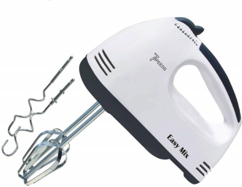 WOLBLIX High Speed Hand Mixer with 7 Speed 180 W Hand Blender (White, Black) 180 W Hand Blender(White)