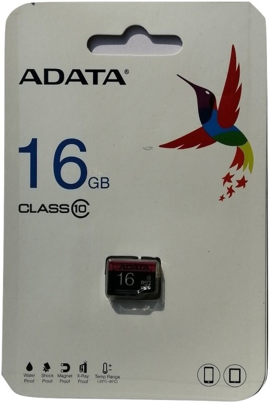 ADATA Class 10 16 GB MicroSD Card Class 10 80 MB/s Memory Card