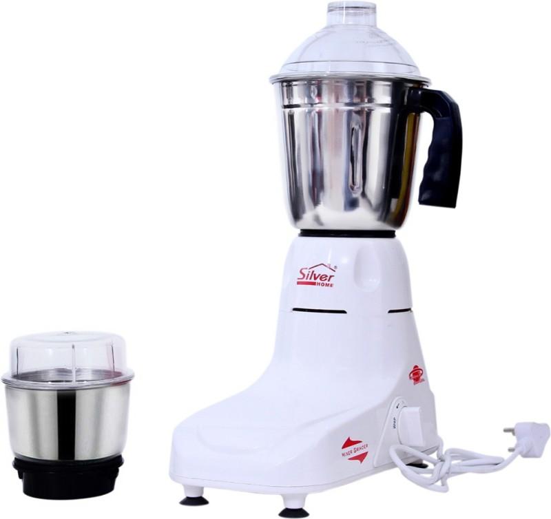 Silver home POPULAR01 450 Mixer Grinder(White, 2 Jars)