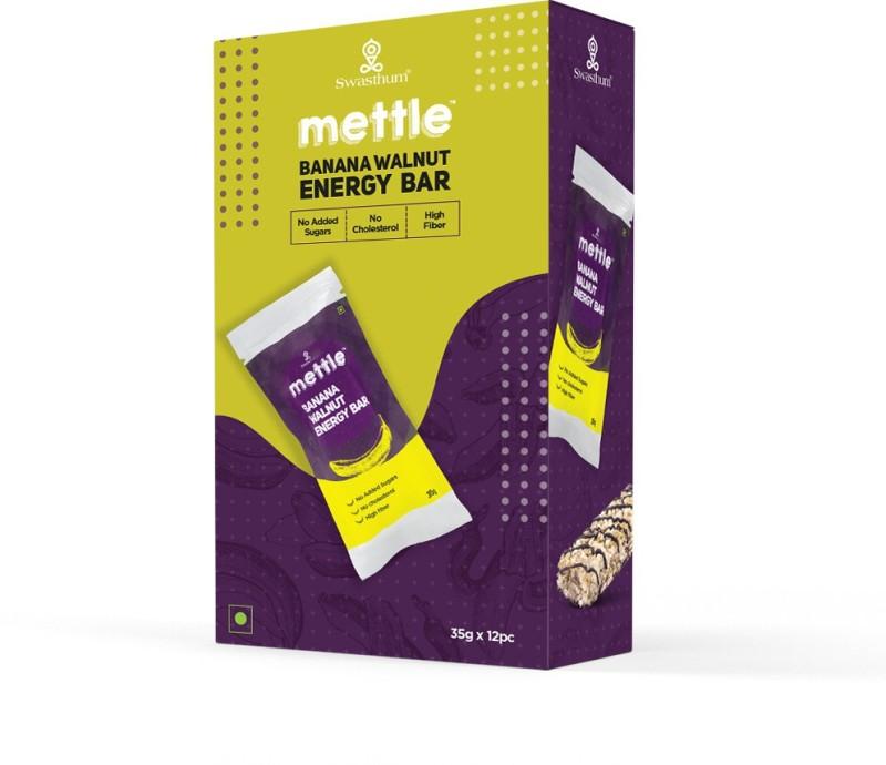 Mettle Banana Walnut Energy Bar 35 g. Pack of 12 Energy Bars(480 g, Banana Walnut)