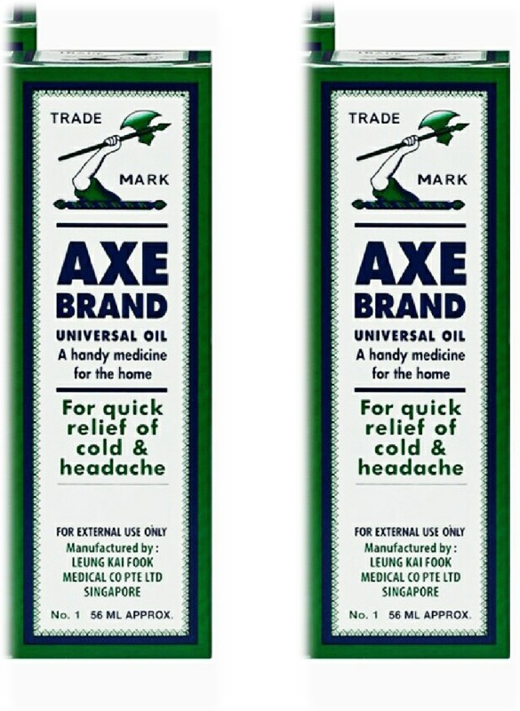 Axe Brand universal Oil 56ml Pack of 2 Quick Pain Relief Oil Liquid(56 ml)