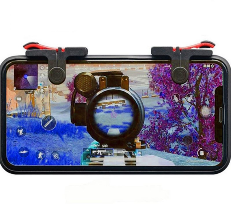 BUY SURETY New Collection Red Black pubg Game Trigger/Joystick Compatible with All Smartphones ||Sensitive Shoot/aim Buttons L1 R1 Trigger Mobile Game Controller Joystick for Mobile,Fire Button Assist Tool for PUBG/Fornite/Knives Out/Rules of Survival Gaming Accessory Kit(Black, Red, For Android, i