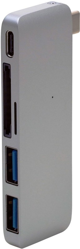 Tobo Type C Hub USB C 5 in 1 Hub with Charging Port/2 USB 3.0 /Card Reader Port HUB TD-005 USB Hub(Space Grey)
