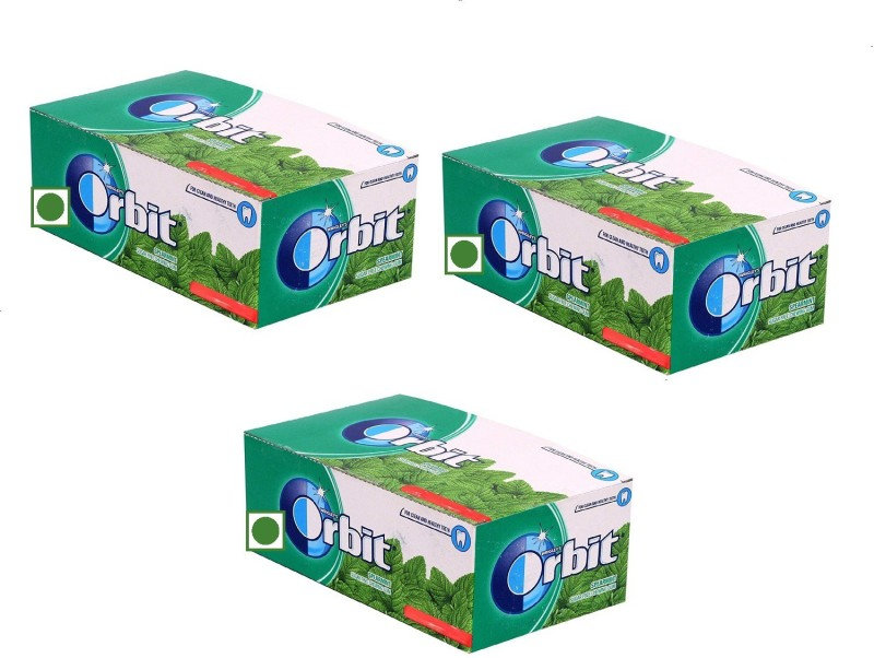Orbit Chewing Gum, 141g (pack of 3) Spearmint Chewing Gum(3 x 141 g)