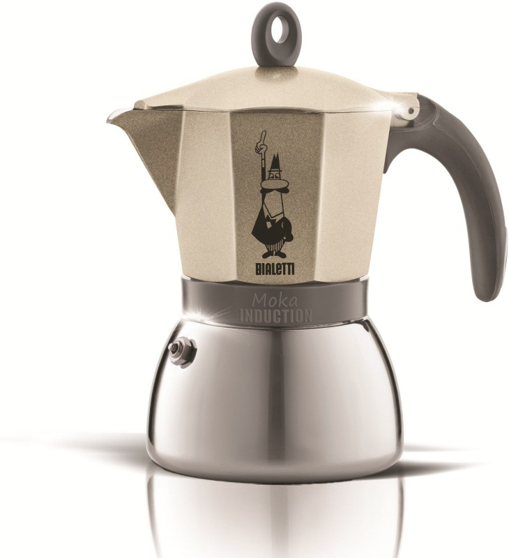 Coffeeworkz MOKA INDUCTION 6 Cups Coffee Maker(Gold)