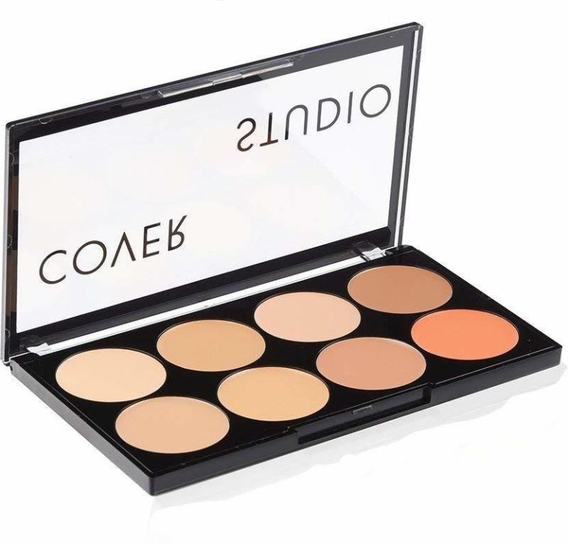 Swiss Beauty Cover Studio Ultra Base Concealer Palette Concealer(multicolor, beige, orange, 16 g)