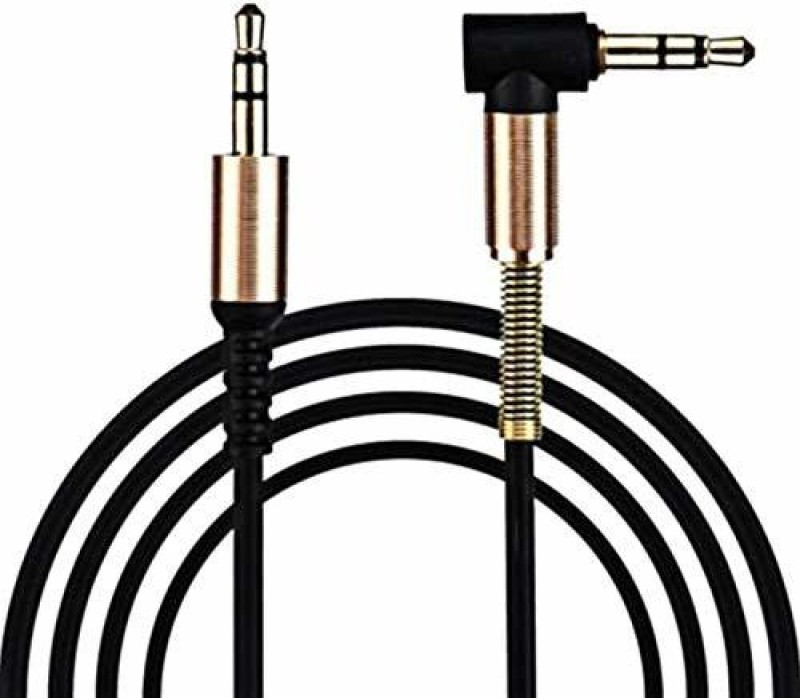 Wonder World ™3.5mm Jack Male To Male 90 Degree Right Angle Aux Cable AUX Cable(Compatible with Universal, White)