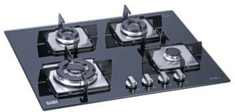 GLEN Glen Built In Hob 1064 SQ IN Gas Stove Glass Automatic Gas Stove(4 Burners)