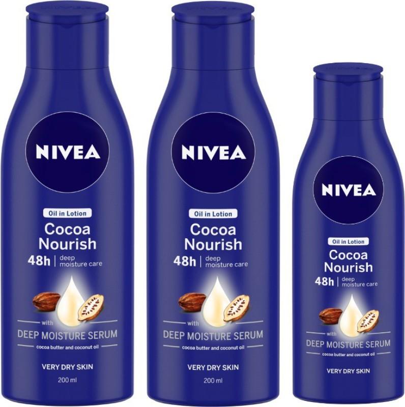 Nivea Cocoa Nourish 200 ml & Cocoa Nourish Body lotion 120 ml Combo(520 ml)