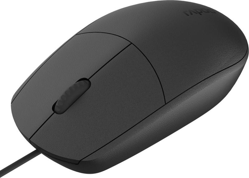 Rapoo N100 Wired Optical Mouse(USB 3.0, USB 2.0, Black)