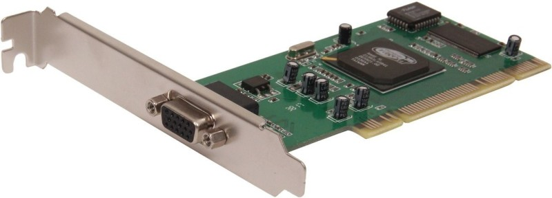 ANDTRONICS PCI VGA Add on Card 8MB with ATI chip Network Interface Card(Green)