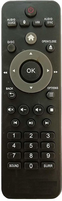 LipiWorld DVD and Home Theater System Remote Control Compatible for Philips Bluetooth USB Remote Controller(Black)