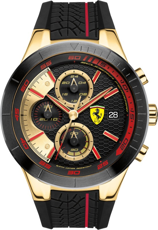 Scuderia Ferrari 0830298 Red Rev Evo Analog Watch - For Men