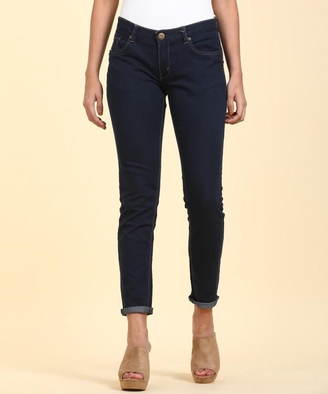 People Skinny Women Dark Blue Jeans