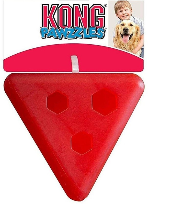 Kong Pawzzles Pyramid Small Rubber Treat Dispensing Toy For Dog