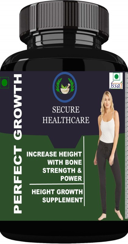 Secure Healthcare Perfect Growth Height Increase Medicine Capsules Pack Of 1 Weight Gainers/Mass Gainers(30 No, Unflavoured)