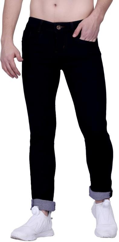 AGINOS Slim Men Black Jeans