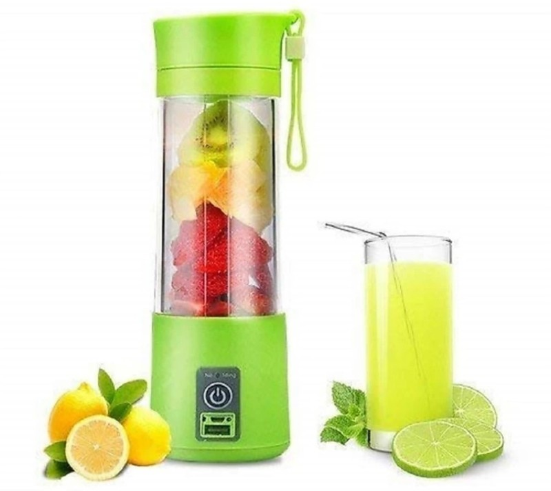 DRENO SINGLE PORTABLE MIXER JUICER 360ML RECHARGABLE 350 Juicer Mixer Grinder(Multicolor, 1 Jar)