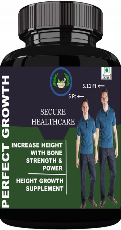 Secure Healthcare Perfect Growth Height Increase Powder Pack Of 1 Weight Gainers/Mass Gainers(100 g, Unflavoured)
