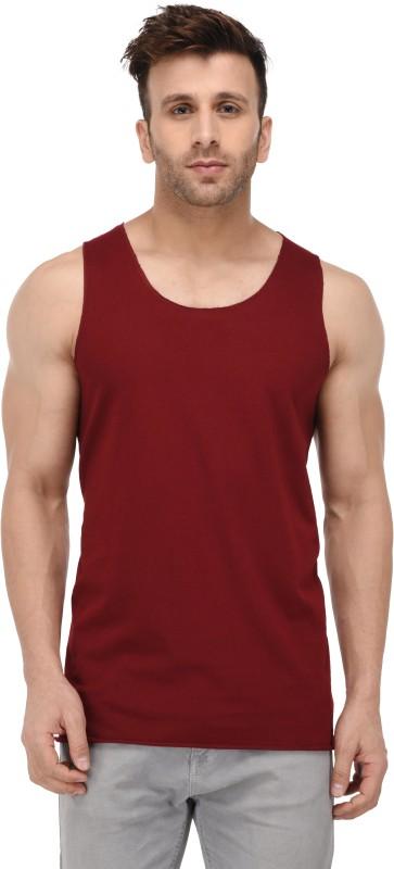Kay Dee Solid Men Scoop Neck Maroon T-Shirt