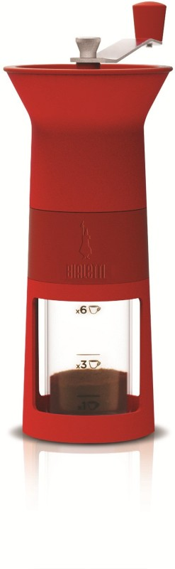 Bialetti COFFEE GRINDER 2 Cups Coffee Maker(Red)