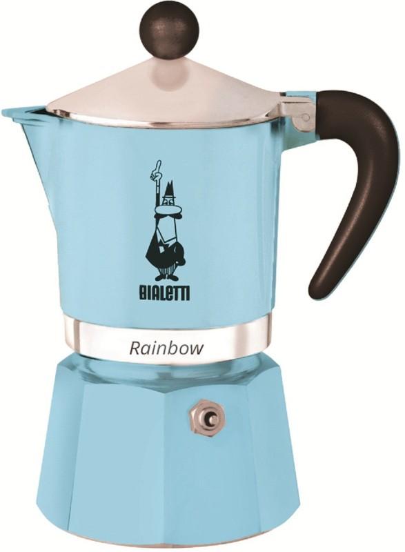 Bialetti RAINBOW 3 Cups Coffee Maker(Light Blue)