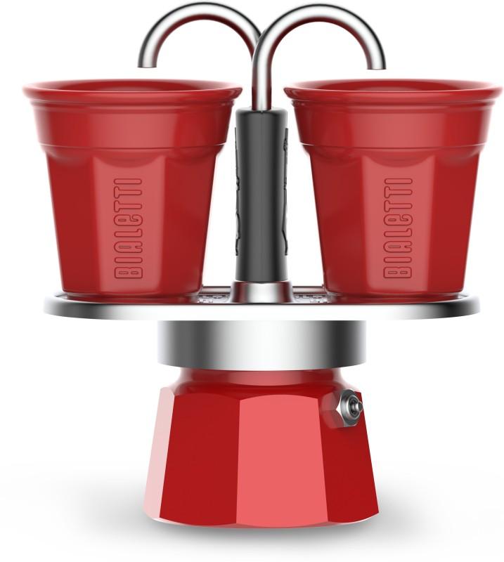 Bialetti SET MINI EXPRESS & BICCHIERINI 2 Cups Coffee Maker(Red)