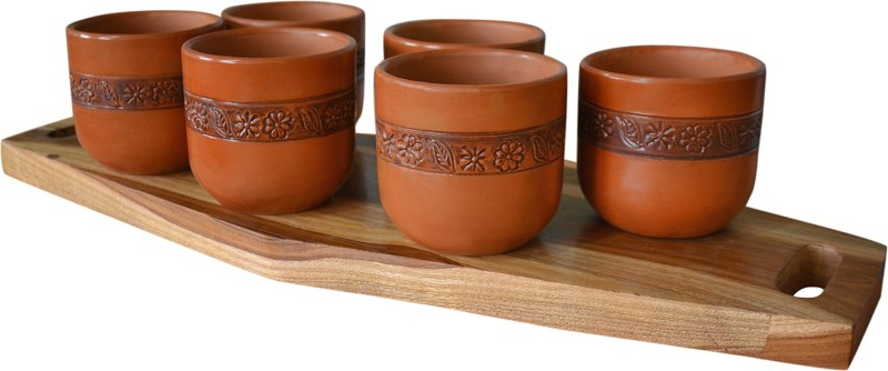 Style My Way Handcrafted Kullads In Terracotta-Set Of 6 | Kullad Tea Cups | Kullad Mugs | Tea Cup Sets | Chai Cups Earthenware(Brown, Pack of 6)