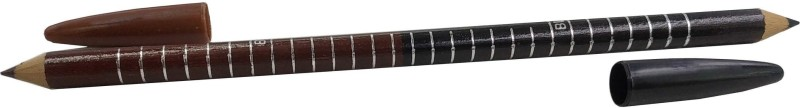 One Personal Care Black & Brown 2 in 1 Eyebrow Pencil - PO1(Brown, Black)
