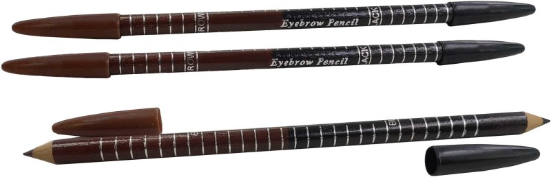 One Personal Care Black & Brown 2 in 1 Eyebrow Pencil - PO3(Brown, Black)