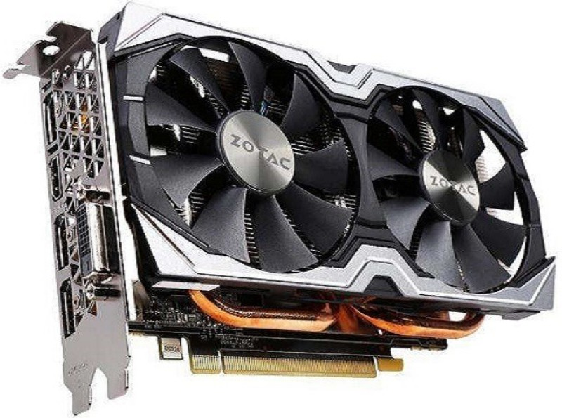 ZOTAC NVIDIA Geforce GTX 1060 Amp! Edition 6gb 192 BIt DDR5 6 GB GDDR5 Graphics Card(Black, White)