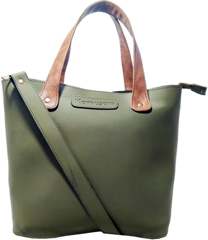 Karpasam Women Green Hand-held Bag