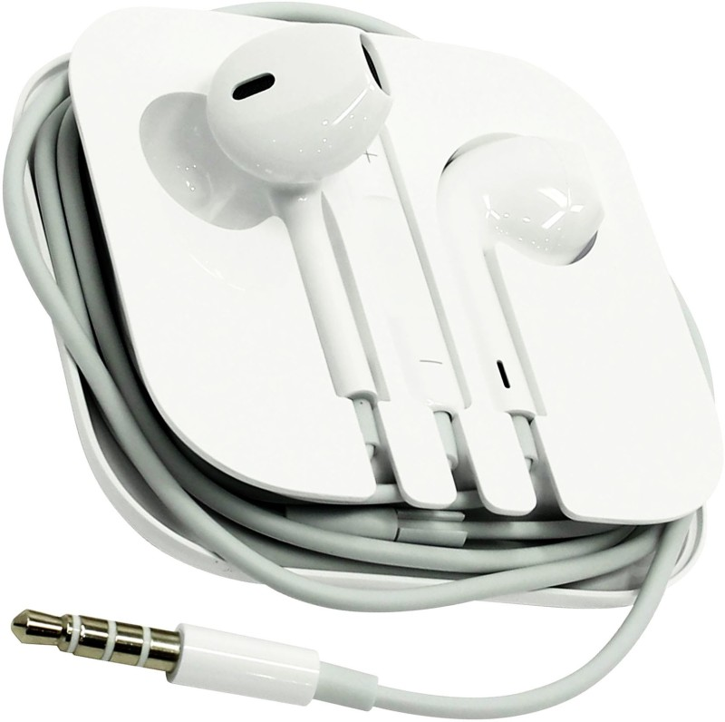 BUY SURETY High Quality HD Bass Stereo iOS Earphone Headphone Headset Wired Headset with Mic(White, In the Ear)