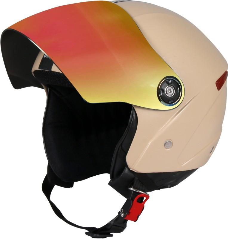 JMD GRAND Premium Open Face Helmet With Mirror Visor (Desert Storm, Large) Motorbike Helmet(Desert Storm)