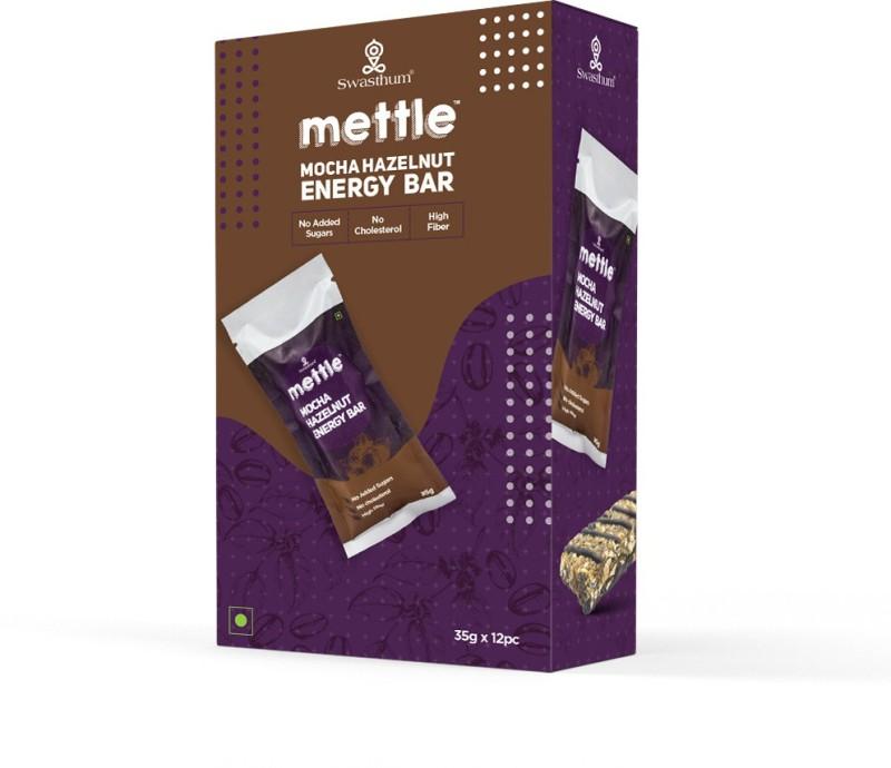 Mettle Mocha Hazelnut with White Chocolate 35 g. Pack of 12 Energy Bars(420 g, Mocha Hazelnut)
