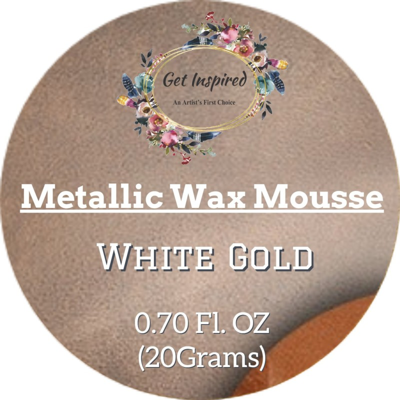 get inspired White Gold Metallic Wax 20grams Tin By Get Inspired Wax Color(20 g)