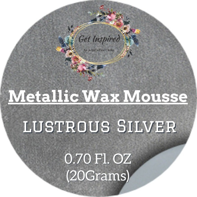 get inspired Lustrous Silver Metallic Wax 20grams Tin By Get Inspired Wax Color(20 g)