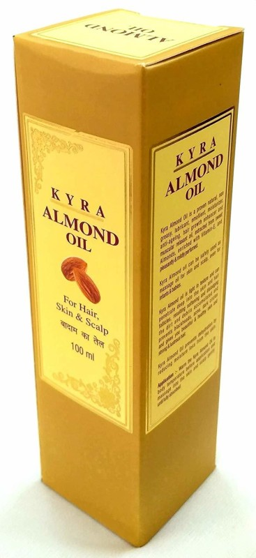 Kyra Natural Almond Oil for hair Care, Skin Care and Scalp Care 100 ml Hair Oil(100 ml)