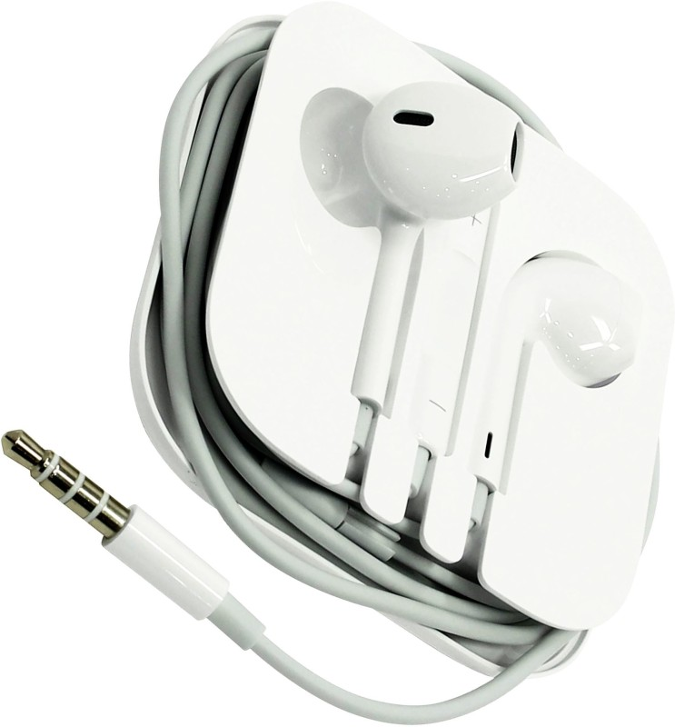 BUY SURETY High Quality HD Bass Stereo Headset Earphone Headphone Headset Wired Headset with Mic(White, In the Ear)