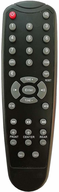 LipiWorld Home Theater System Remote Control Compatible for F & D Bluetooth Remote Controller(Black)