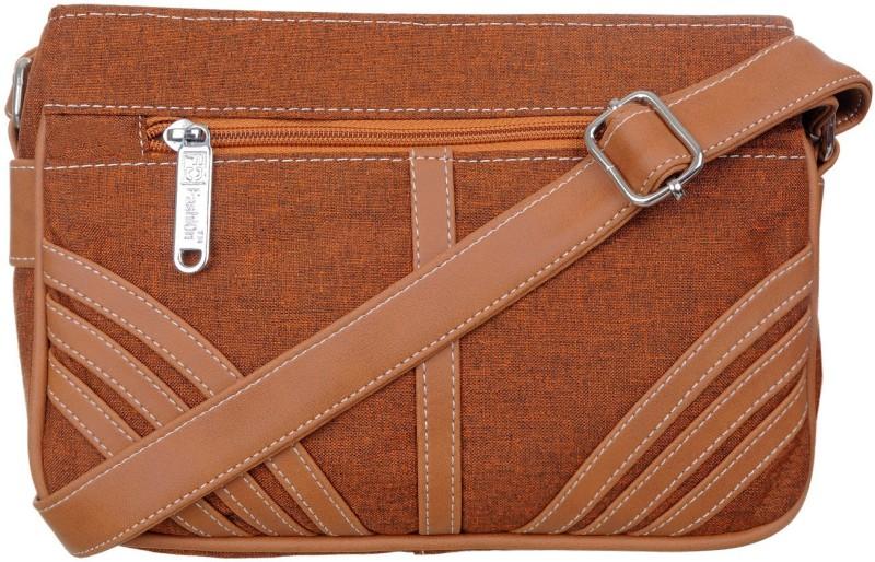 FD Fashion Women Tan, Brown Sling Bag