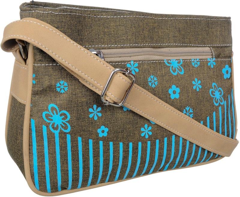 FD Fashion Women Blue, Beige Sling Bag