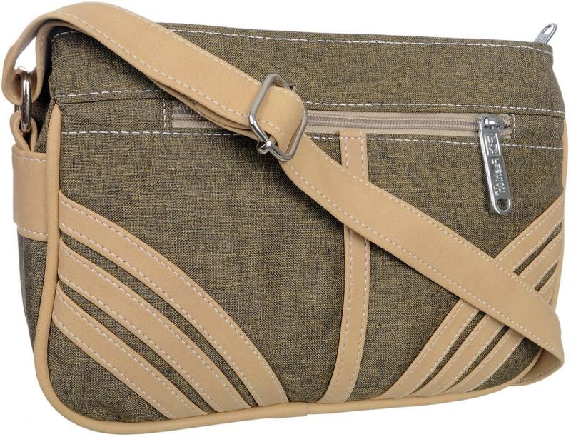 FD Fashion Women Beige, Green Sling Bag