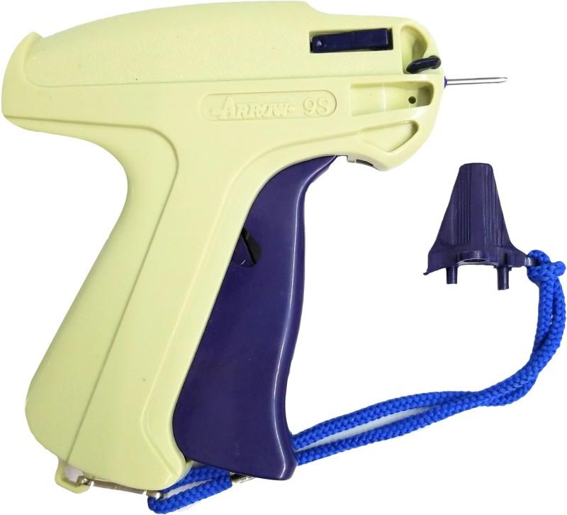 Sadar Shop 9S Arrow Tag Gun,10mm 1000 Black Tag Pin Barbs,1 Needle Cloth Price Label Attacher Taging Gun