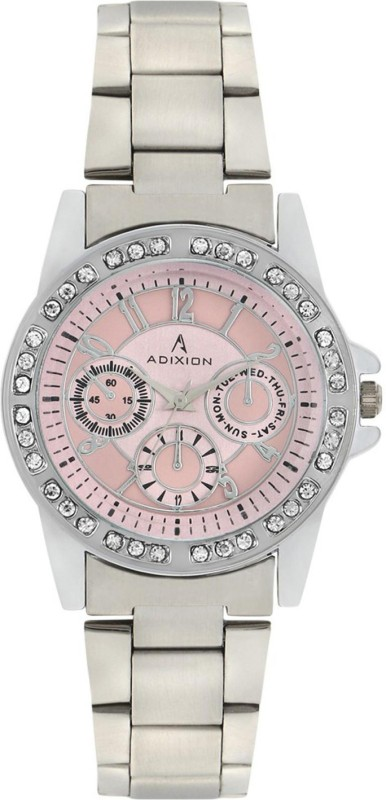 ADIXION 9401SMB6 New Chronograph Pattern Stainless Steel Analog Watch - For Women