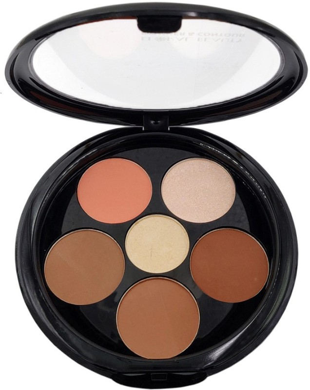 One Personal Care 6 in 1 Floral Beauty Blusher & Contour (161-04)(Brown, Peach, Pink, Yellow, Beige, Multicolor)