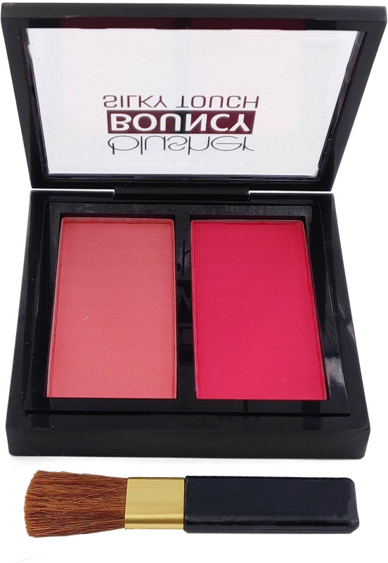 One Personal Care 2 in 1 Bouncy Silky Touch Blusher (Blush Baby-08)(Rosy Pink, Reddish Pink)