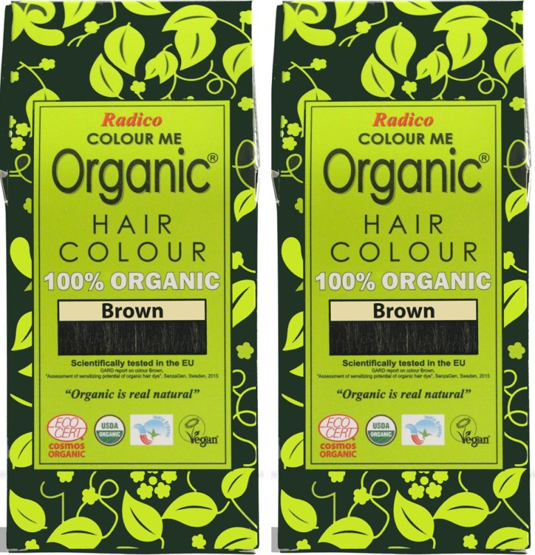 Radico Certified Organic -Brown (Twin Pack) Hair Color(Brown)