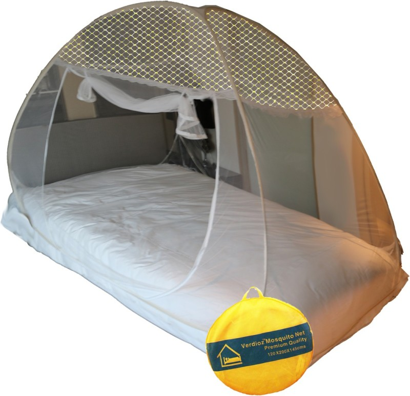 Verdioz Cotton Adults mosuitonet-jacquard-single-golden Mosquito Net(White)