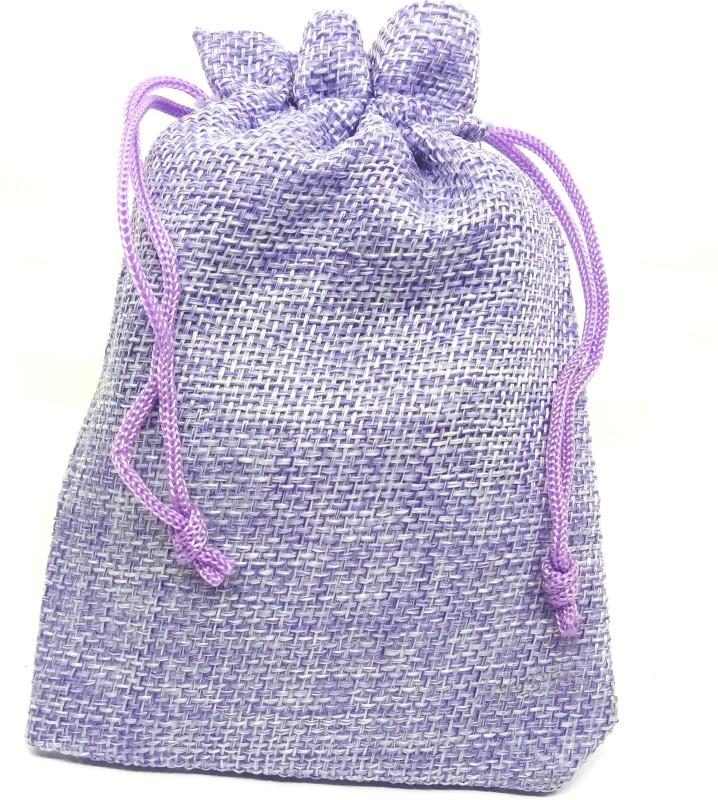 Aadya Crafts Jute Pouch Potli(Purple)